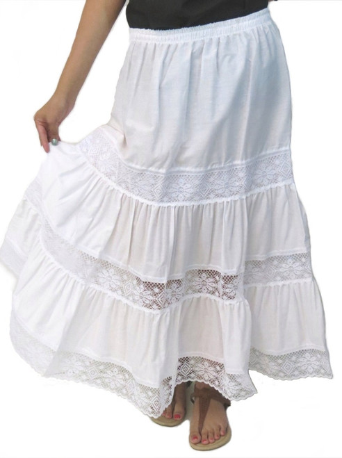 white Mexican skirt