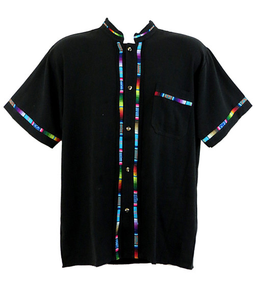 Mexican toluca shirt in black
