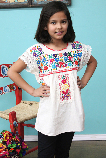 girl's mexican blouse