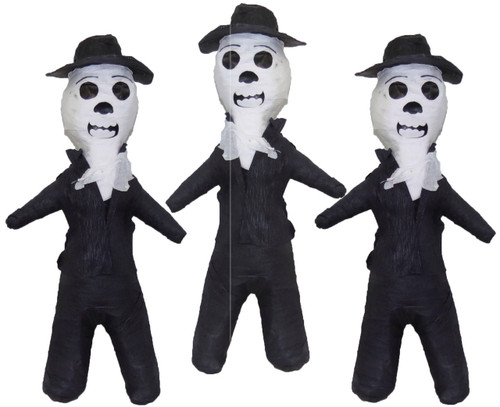 3 PACK Mexican Pinata Day of the Dead El Catrin