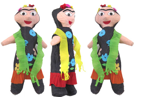 3 PACK Mexican Pinata Frida 12 Inches Tall