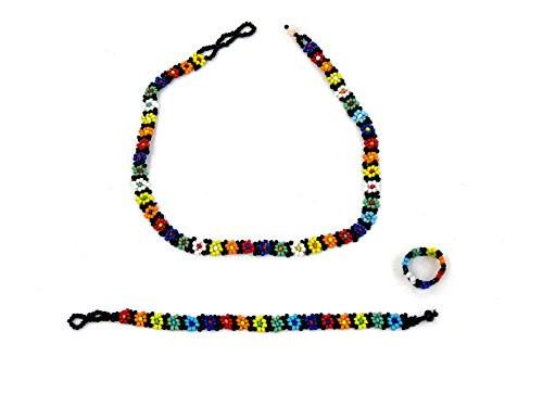 Shakira Beads Jewelry Set Choker, Bracelet and Ring for Girls