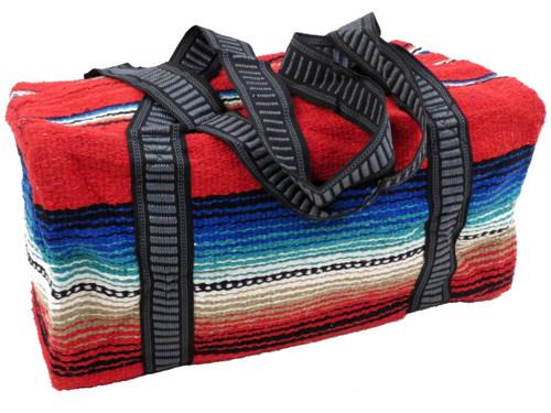 red weekender travel bag