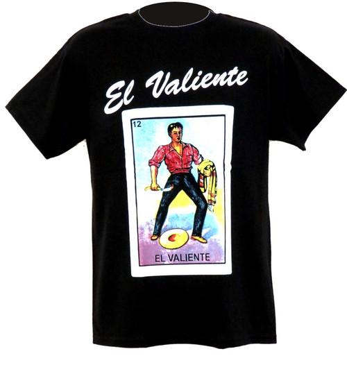 El valiente mexican loteria t shirt