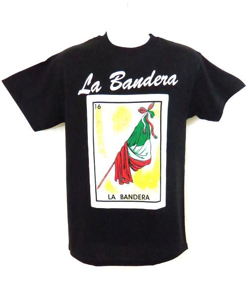 16 La Bandera Mexican Loteria T Shirt