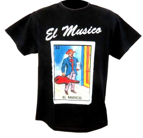 32 El Musico Mexican Loteria T Shirt