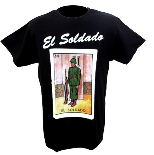 34 El Soldado Mexican Loteria T Shirt