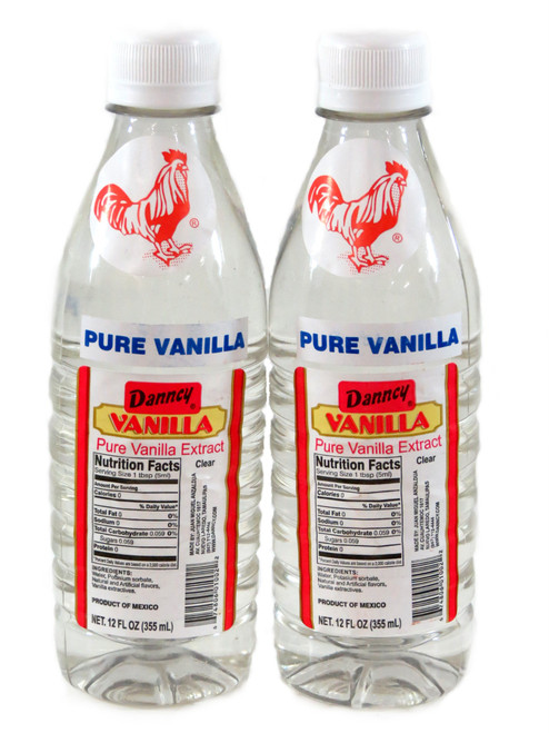 pack of 2 clear vanilla bottles