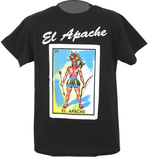 El apache Mexican loteria t shirt