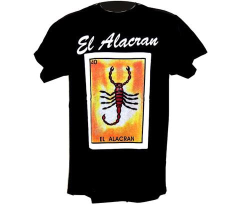 40 El Alacran Mexican Loteria T Shirt