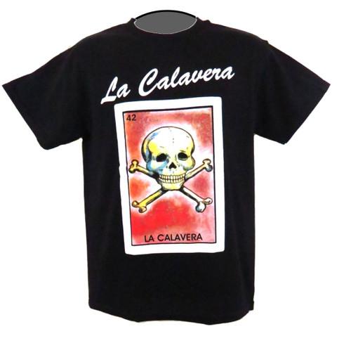 42 La Calavera Mexican Loteria T Shirt
