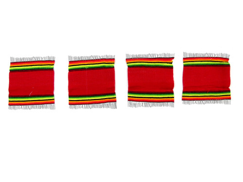 serape coaster red