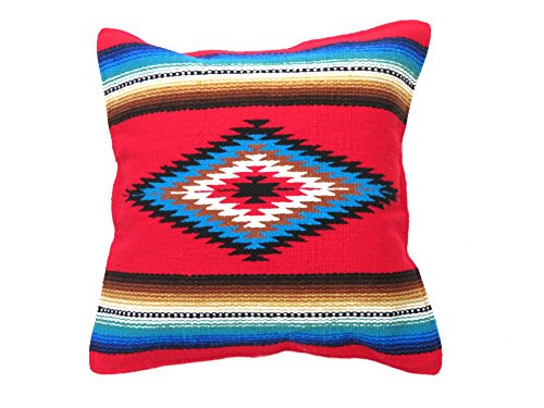 "Southwest Color Pillow Cover 18""x 18"" (Red)"