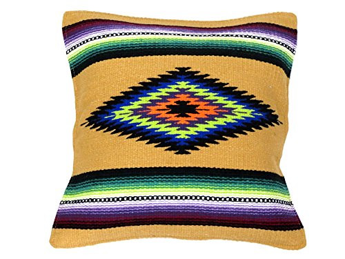 "Southwest Color Pillow Cover 18""x 18"" (Tan)"