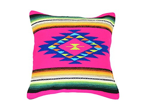 "Southwest Color Pillow Cover 18""x 18"" (Hot Pink)"