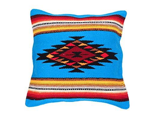 "Southwest Color Pillow Cover 18""x 18"" (Aqua)"