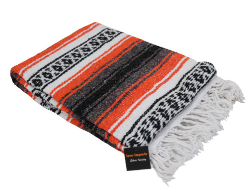 mexican falsa blanket yoga orange