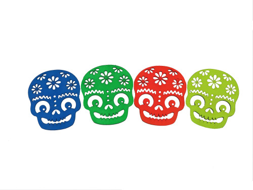 Sugar Skull Coasters 4 Pack
