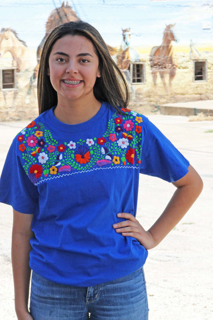 mexican blouse style t shirt