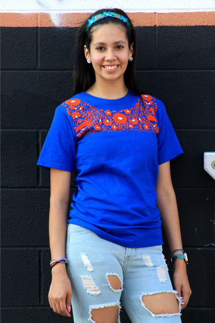hand embroidered mexican tee shirt