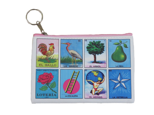 Multi design card loteria coin purse