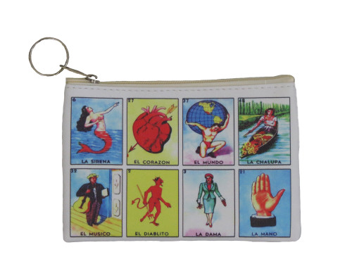 Multi card design loteria coin purse