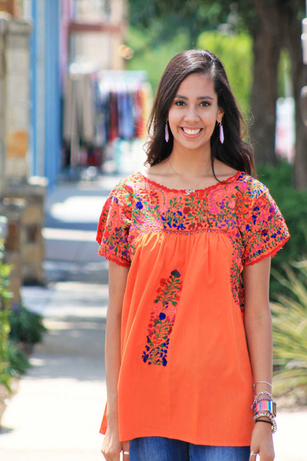 San Antonio Blouse short sleeve (Orange)