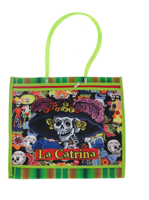 ASA Deluxe Mexican Mercado Shoulder Mesh Bag (DOD La Catrina) (Design 1)