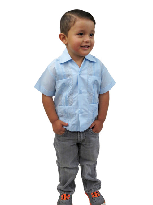 Boy's mexican guayabera wedding shirt
