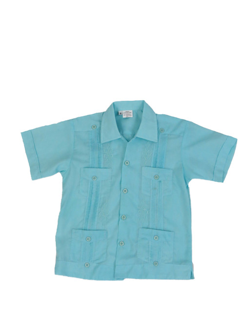 Light Blue Kids Guayabera