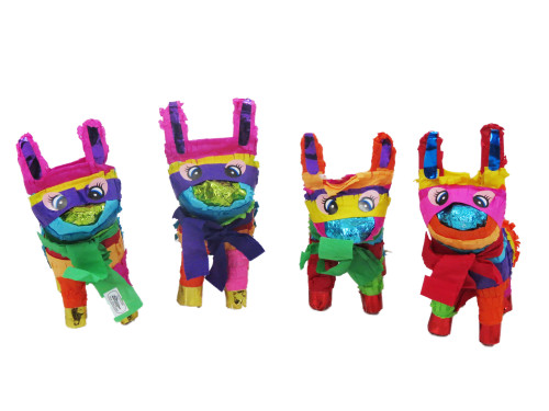 4 Pack Pinatas Assorted Colors