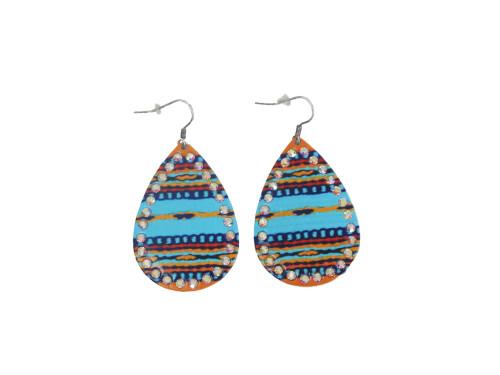 Aqua Southwestern Earrings