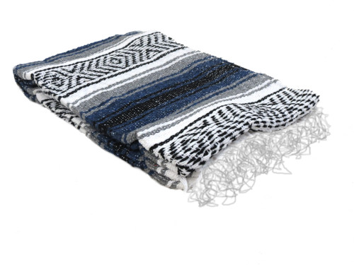 Navy grey falsa blanket