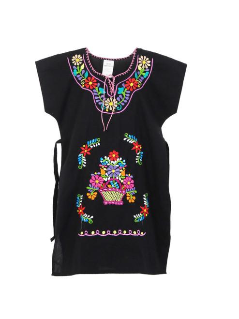 Girls Mexican Moni Black  Dress