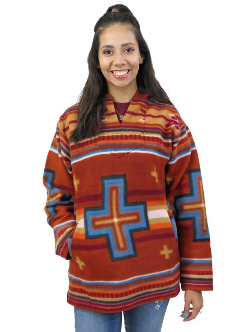 southwestern fleece hoodie