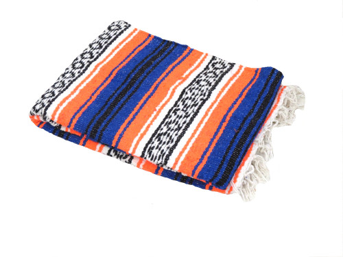 Blue orange falsa blanket