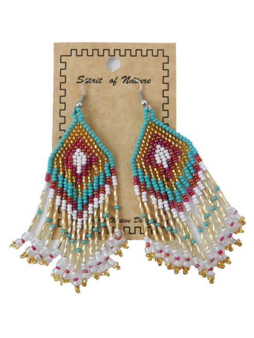 Mint Beaded Earrings
