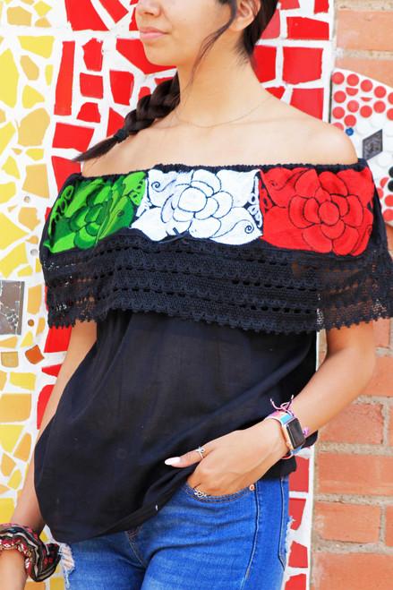 Black chiapas blouse