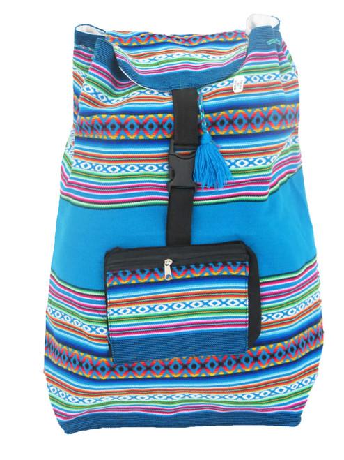 Aqua Southwestern Backpack