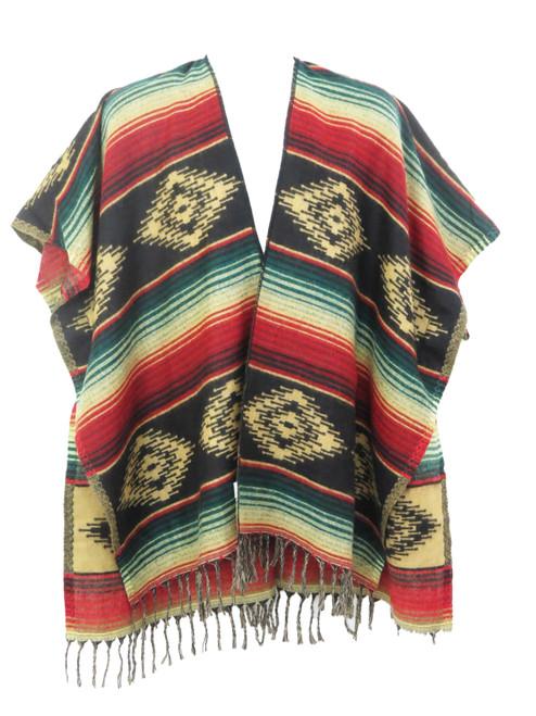 Black ruana shawl