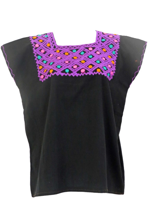 Black Square Blouse