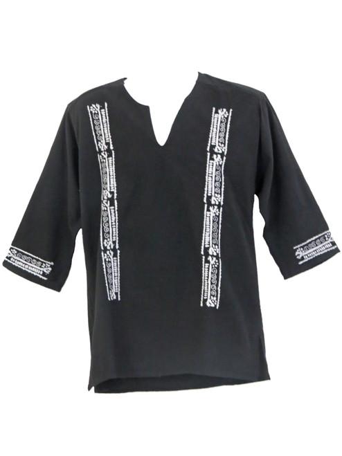Black mens camino shirt