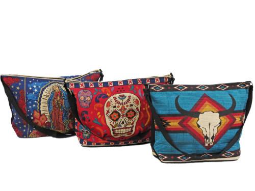 Cotton stencil handbag