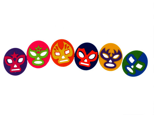 6 Pack Luchador Coasters