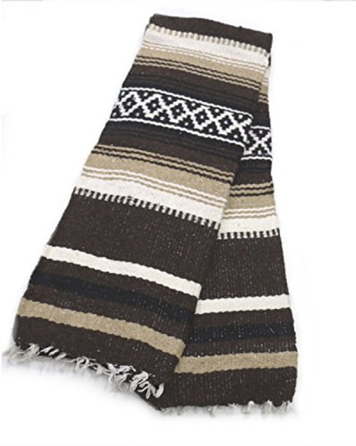 mexican thick blanket brown
