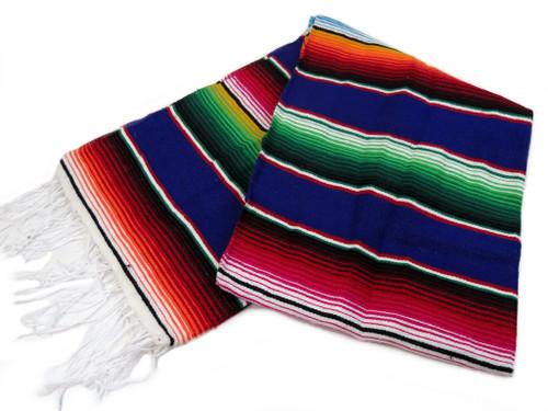 "Serape Sarape Mexican Blanket XL 84"" x 55"" (Purple)"