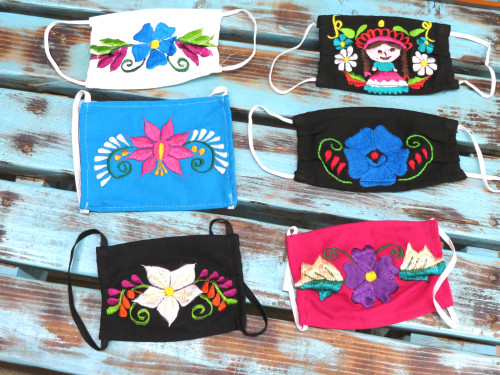 embroidered face mask covers