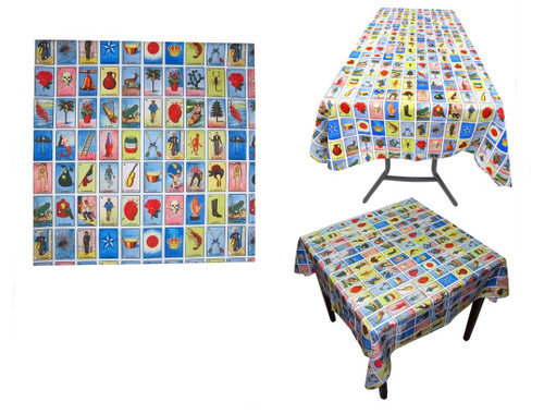 mexican loteria table cover