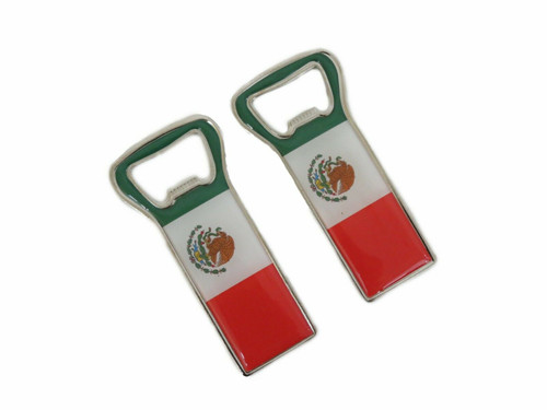 2 Pack Mexico Flag Bottle Opener