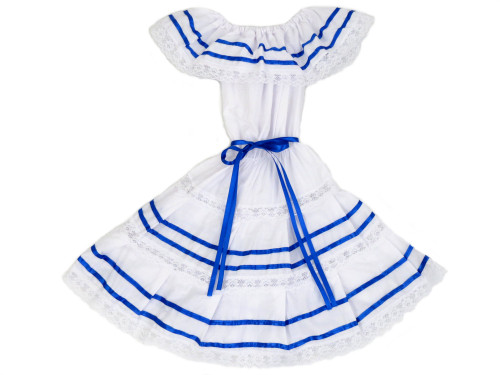 salvadoran honduran colors ribbons dress